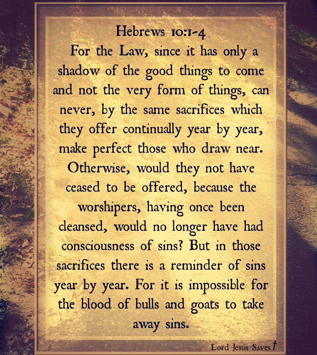 Hebrews 10 1-4
