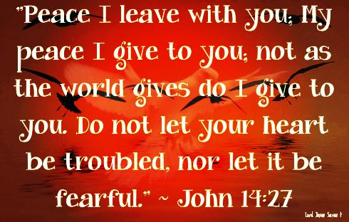 John 14:27 #LordJesusSaves