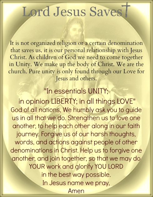 Finding Unity Among the Children of God!