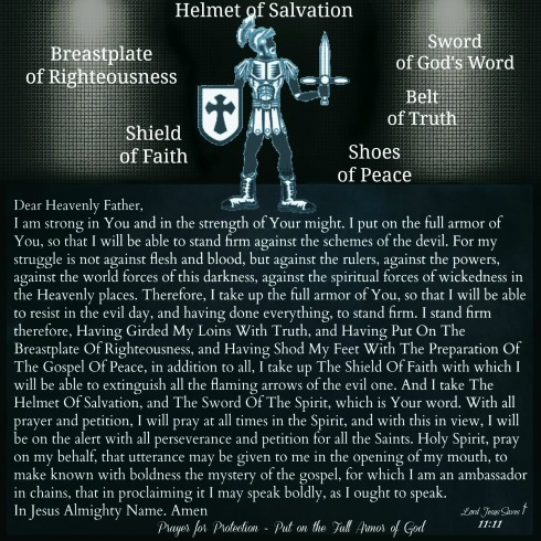 Put on the Full Armor Of God #LordJesusSaves