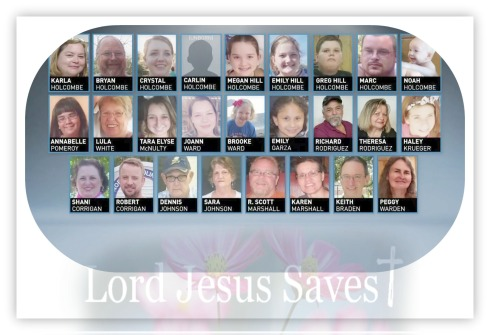 Sutherland Springs First Baptist Church Victims